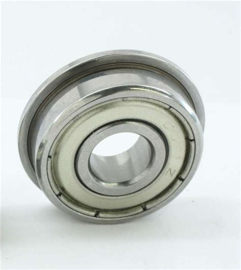 4pcs Bearing 3x6x2 5 Mm Metal Sealed smf63zz flanged bearing shielded stainless steel 3x6x2 5