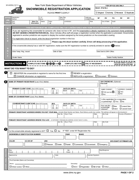 boat registration renewal new york nys motor vehicle forms impremedia net