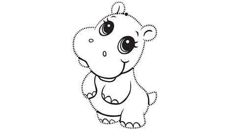 cute coloring pages for 11 year olds learning friends hippo tracing page