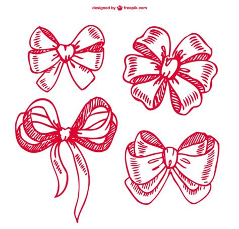 doodle ribbon vector free ribbon doodles collection vector free