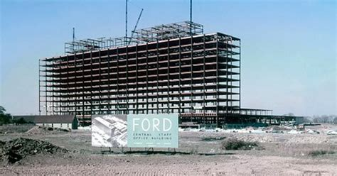 ford headquarters 1955 ford world headquarters construction detroit