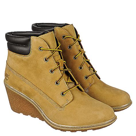 womens timberland wedge boots timberland amston 6in s low heel wedge boots