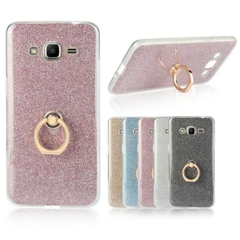 Softcase Ring Holder Clear Metal Mirror For Iphone 6 Plus for samsung galaxy j2 prime transparent soft tpu