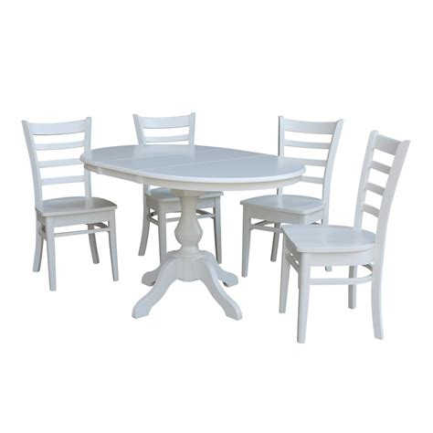 white oval kitchen table sets white dining table