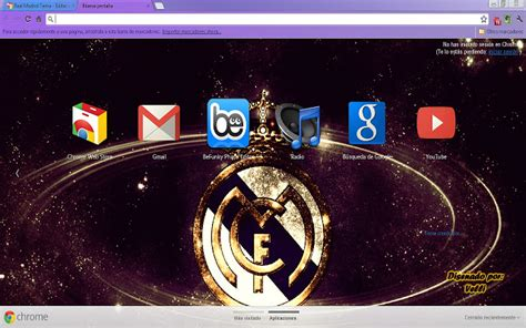 google chrome themes gallery real madrid real madrid tema chrome theme