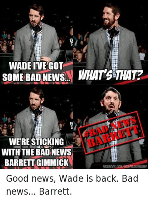 Bad News Barrett Meme - 25 best memes about bad news barrett bad news barrett memes