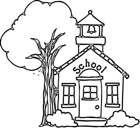 coloring page school building welcome student back to school coloring pages womanmate com