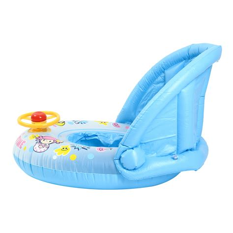 floating boat for baby inflatable sunshade baby kids water float seat boat