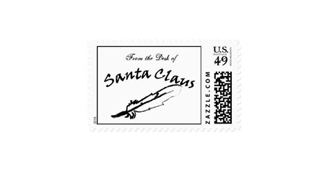 from the desk of santa claus from the desk of santa claus postage st zazzle