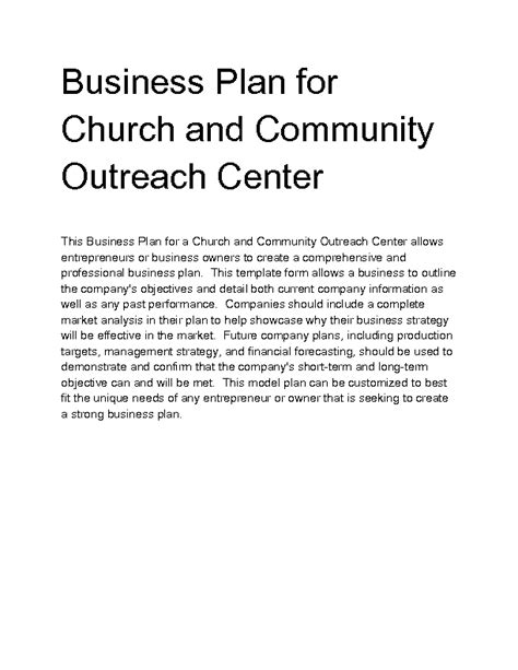 church business plan template church business plan template drugerreport269 web fc2