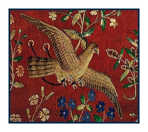 unicorn tapestry pattern medieval lady and unicorn bird detail taste tapestry