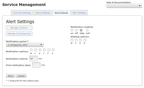 nagios email notification template nagios xi using the config manager for service
