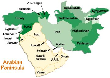 arabian peninsula map image arabian peninsula on world map