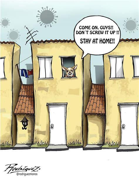 stay  home cartoon movement
