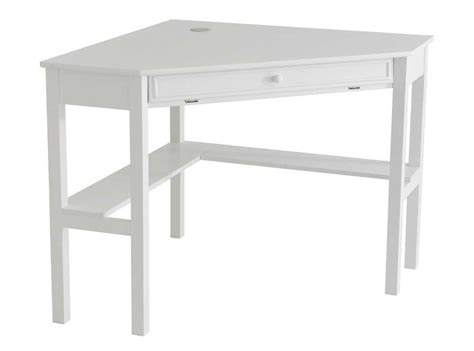 White Corner Writing Desk Wooden Corner Desk For An Office