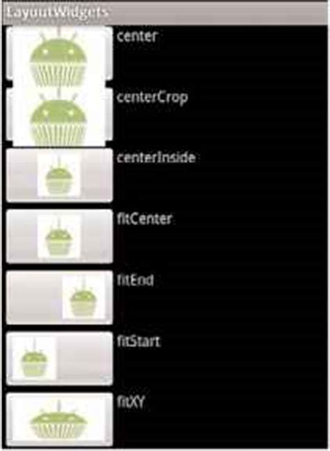 android imageview scaletype recipe using image buttons in a table layout android sdk