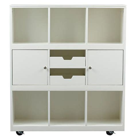Home Decorative Collection Home Decorators Collection Avery 6 Cube Mdf Mobile Cart In White 2311100410 The Home Depot