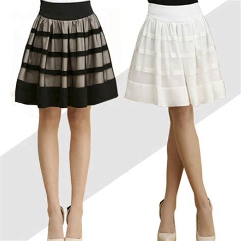 fashion skirt knee length plus size fall winter