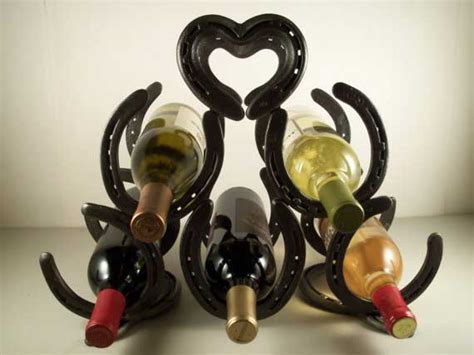 Wine Racks Made Out Of Horseshoes by 10 Easy Welding Projects To Make Money For Beginners