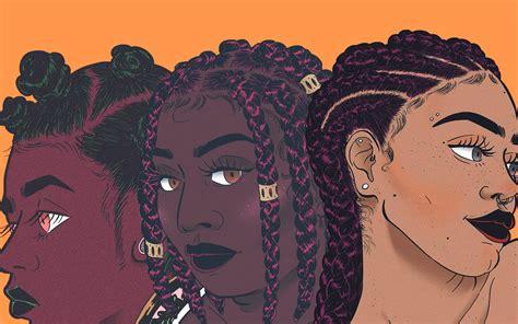 natural hairstyles cartoon rising illustrator and cartoonist turns black hair into
