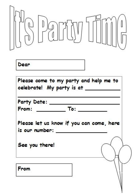 printable birthday invitations black and white 10 best images of printable blank party invitations free