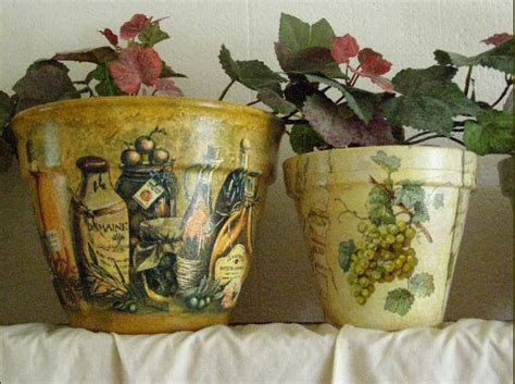 decoupage flower pots decoupage flower pots diy and crafts