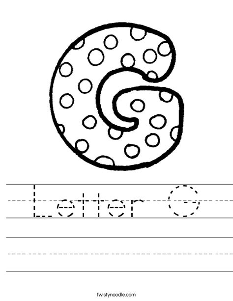 Letter G Worksheets by Letter G Worksheet Twisty Noodle