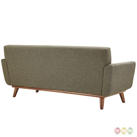 Engage Modern 2pc Upholstered Button Tufted Loveseat And Tufted Sofa And Loveseat