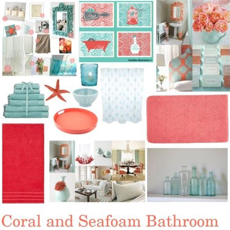 blue and coral bathroom love the color scheme for the kids quot coral and seafoam