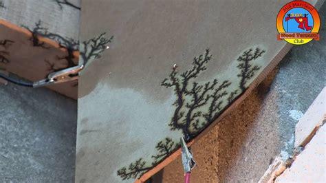 brian humbel demonstrates  lichtenberg effect wood