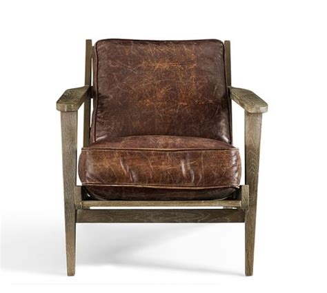 Raylan Leather Armchair Pottery Barn
