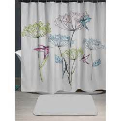 Dandelion Print Curtains Dandelion Bird Print Waterproof Shower Curtain In Gray W71 Inch L71 Inch Twinkledeals
