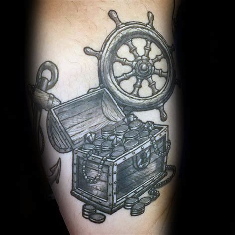 treasure chest tattoo 40 treasure chest designs for valuable ink ideas