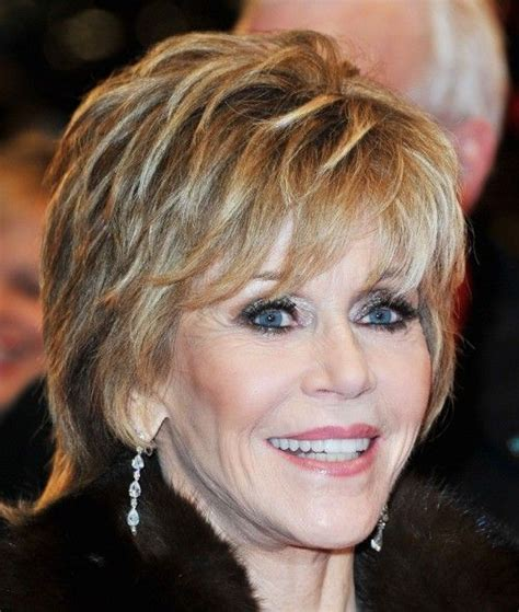 bing hairstyles for women over 60 jane fonda with shag haircut pixie hairstyles for older women jane fonda s short