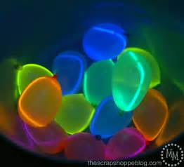 glow in the water balloons the scrap shoppe