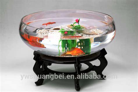 Aquarium Bowl Design | 2015 new design round clear glass open mouth fish bowl