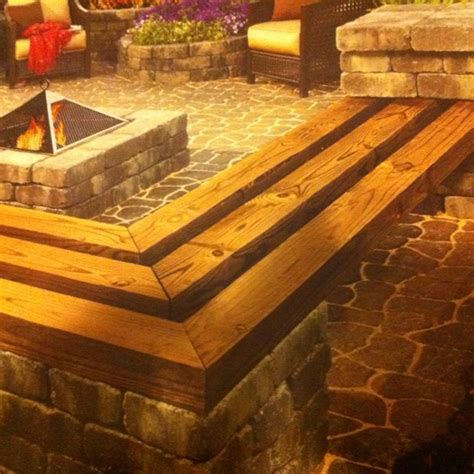 patio block bench patio block and timber bench patio pinterest patio
