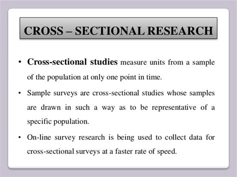 definition of cross sectional research cross sectional study design images
