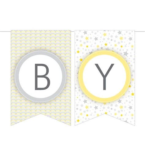 free printable baby shower banners print 7 best images of yellow baby shower banner printable