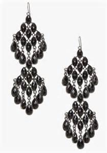 chandelier earrings black bebe faceted chandelier earrings in black lyst