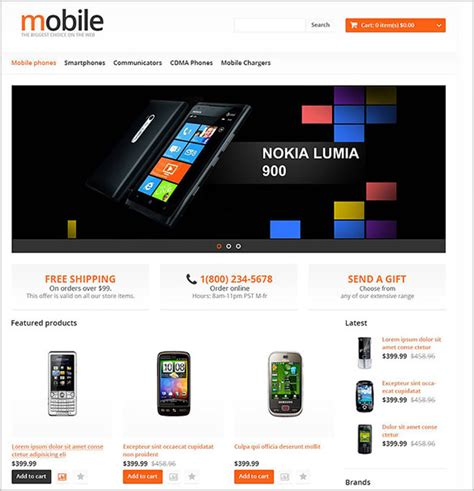 themes mobile store 14 mobile store opencart themes templates free