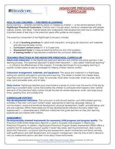 high scope lesson plan template high scope preschool lesson plans perry preschool