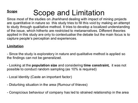 how to write scope and limitation in the research paper what to write in scope and limitations in a research paper