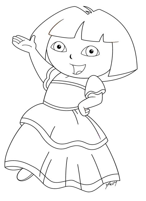 dora spanish coloring pages coloring pictures of spanish dresses dora the dancer color