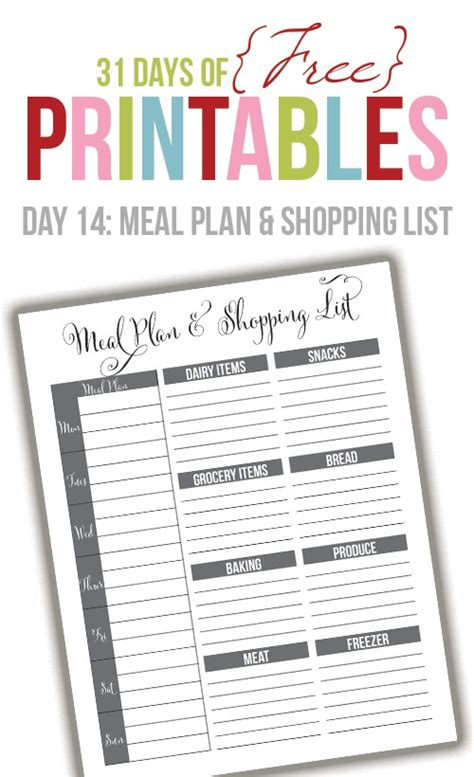 printable meal planner black and white black and white meal planner day 14 i heart planners