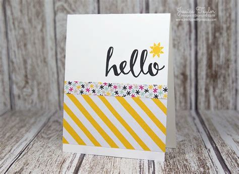 easy to make cards ideas hello easy card idea ink it up with