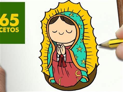 imagenes de la virgen faciles para dibujar draw como dibujar virgen de guadalupe kawaii paso a paso