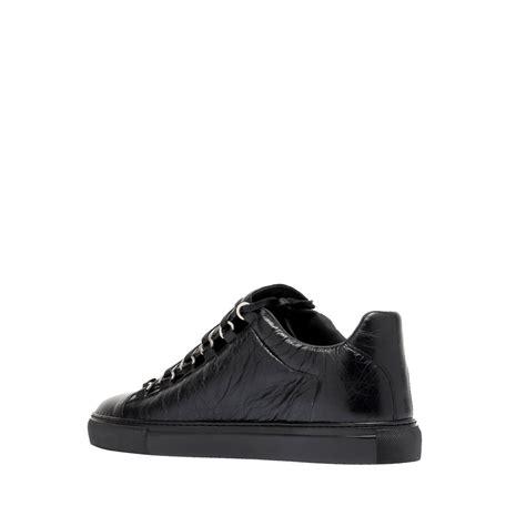 shiny sneakers balenciaga shiny effect low sneakers black s arena