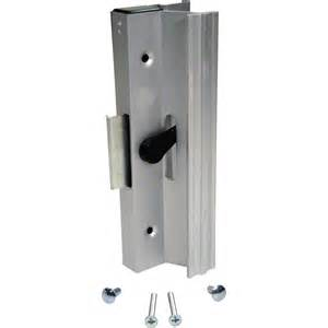 Sliding Patio Door Latch Shop Prime Line Pk Aluminum Finish Surface Mounted Sliding Glass Door Handle With Cl Type