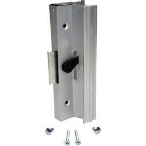 sliding glass door latches shop prime line pk aluminum finish surface mounted